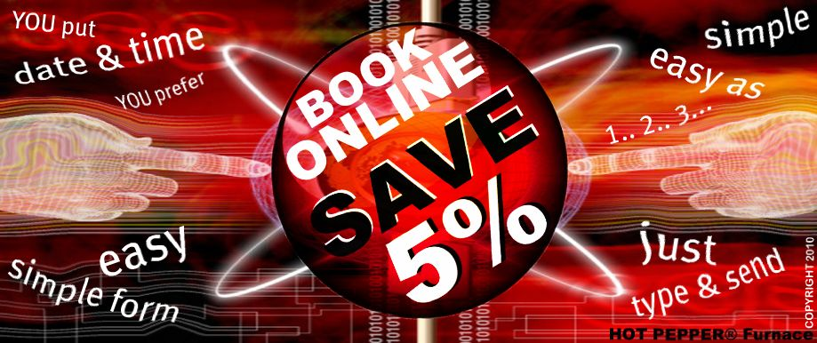 Book Online - Save 5%