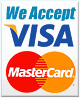 We accept VISA MASTERCARD