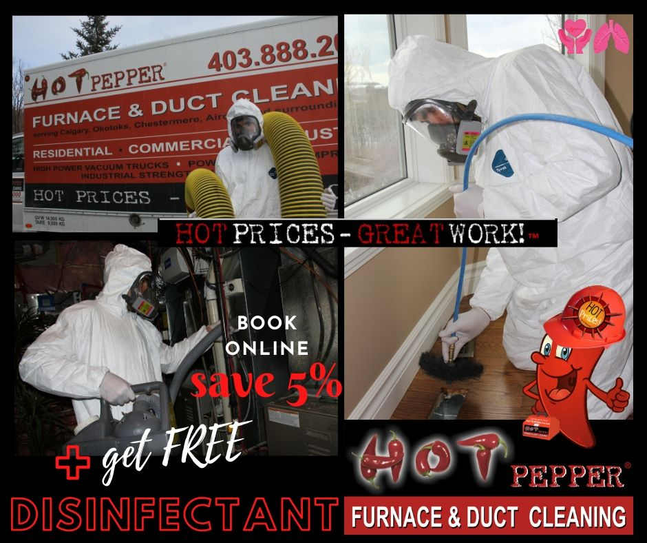 Free Disinfectant with Furnace and Duct Cleaning